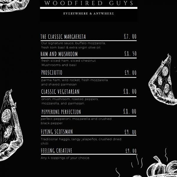 WFG pizza menu